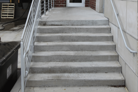 Workplace Safety- Concrete Steps Repair