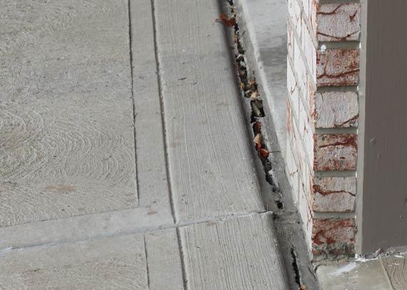 Cracked concrete driveway